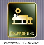gold emblem or badge with... | Shutterstock .eps vector #1225273693