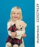 my best friend. little girl... | Shutterstock . vector #1225274119