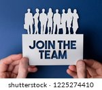 join the team business people... | Shutterstock . vector #1225274410