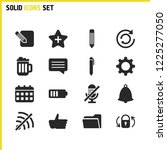interface icons set with pencil ...