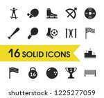 activity icons set with top...