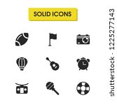 season icons set with booth for ...