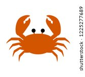 A Red Crab Vector  Simple And...