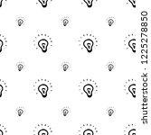 seamless pattern hand drawn... | Shutterstock .eps vector #1225278850