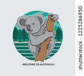welcome to australia icon koala ... | Shutterstock .eps vector #1225286950