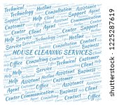 house cleaning services word... | Shutterstock . vector #1225287619