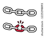 strong and broken chain... | Shutterstock .eps vector #1225298893