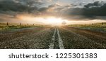 highway at sunset  3d rendering  | Shutterstock . vector #1225301383
