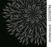 ornamental floral round lace... | Shutterstock . vector #122530786