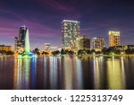 downtown orlando from lake eola ... | Shutterstock . vector #1225313749