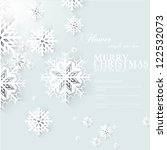 christmas snow | Shutterstock .eps vector #122532073