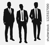 set of three men in suits.... | Shutterstock .eps vector #1225327000