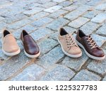 men's leather shoes made from... | Shutterstock . vector #1225327783