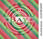 bay christmas badge background. | Shutterstock .eps vector #1225381849