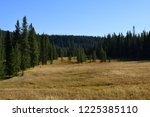 people hike the lone start... | Shutterstock . vector #1225385110
