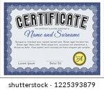 blue sample diploma. cordial... | Shutterstock .eps vector #1225393879