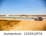 siwa  egypt   april 2018  jeep... | Shutterstock . vector #1225413976