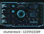 futuristic hud interface. the...