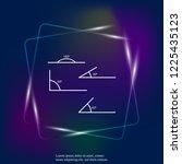 angle of 180  45 30 90 degrees... | Shutterstock .eps vector #1225435123