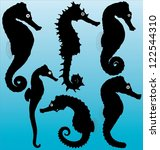 Seahorse Vector Silhouettes....