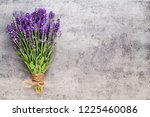 lavender flowers  bouquet on... | Shutterstock . vector #1225460086