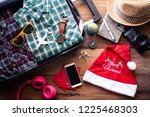 planning for travel with... | Shutterstock . vector #1225468303