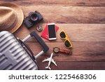 clothing traveler's passport ...   Shutterstock . vector #1225468306