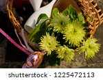 wedding basket with fruit and a ... | Shutterstock . vector #1225472113