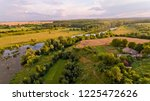 aerial view of fields  forest ... | Shutterstock . vector #1225472626