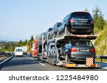 cars carrier truck in the... | Shutterstock . vector #1225484980