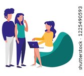group of people in the workplace   Shutterstock .eps vector #1225490593
