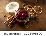 homemade spice red berry sauce | Shutterstock . vector #1225495600