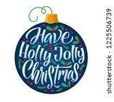 merry christmas vector poster.  ... | Shutterstock .eps vector #1225506739