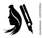 hair straightener salom icon | Shutterstock .eps vector #1225525816