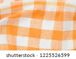 and white checkered creased ... | Shutterstock . vector #1225526599