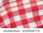 red and white checkered creased ... | Shutterstock . vector #1225526773