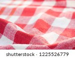 red and white checkered creased ... | Shutterstock . vector #1225526779