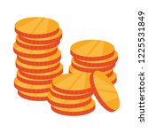 coins cash money isolated icon | Shutterstock .eps vector #1225531849