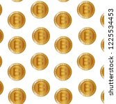 set bitcoins pattern background | Shutterstock .eps vector #1225534453
