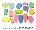 vector bubbles speech set. hand ...   Shutterstock .eps vector #1225536250