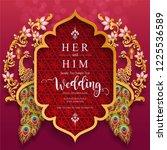 wedding invitation card... | Shutterstock .eps vector #1225536589