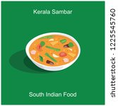 south indian delicious food...   Shutterstock .eps vector #1225545760