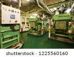 panoramic view of marine diesel ... | Shutterstock . vector #1225560160