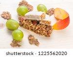 homemade granola bars with...   Shutterstock . vector #1225562020