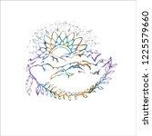 gradient illustration of... | Shutterstock . vector #1225579660