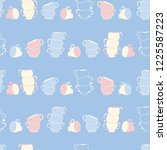 vector blue teacup stacks... | Shutterstock .eps vector #1225587223