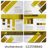 corporate brochure design | Shutterstock .eps vector #122558860