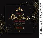 merry christmas sale banner on...   Shutterstock .eps vector #1225590709