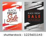 set of black friday sale... | Shutterstock .eps vector #1225601143