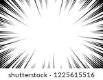 comic book radial lines... | Shutterstock .eps vector #1225615516